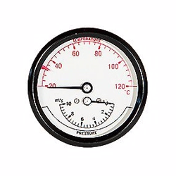 Termo-manometer 80mm. 1/2'' (bag). 0-10 mVS / 20-120° C