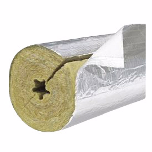 Image of   PAROC Hvac Section AluCoat T Alu-rørskål 12-18x20mm. max. 250°C. 1,2 mtr.