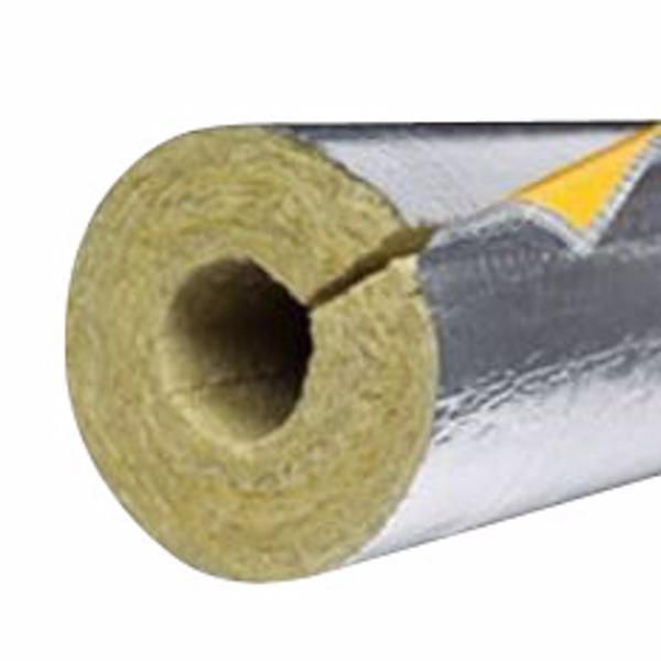 Image of   PAROC Hvac Section AluCoat T Alu-rørskål 48x30mm. max. 250°C. 1,2 mtr.