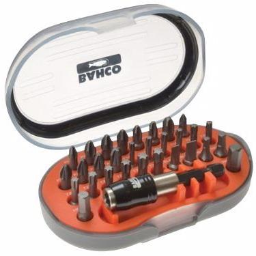 Image of   Bahco TORSION Bitssæt 1/4''. 31 dele PH, PZ, TX, Lige & HEX