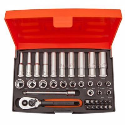 Image of   Bahco SL25L Mini topnøglesæt 1/4'' med 37 dele (4-13 mm), korte og lange toppe