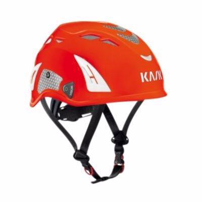 Image of   Kask sikkerhedshjelm rød Plasma AQ, indbygget hagerem, EN 397 LD hi-viz rød
