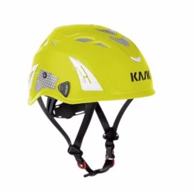 Image of   Kask sikkerhedshjelm gul Plasma AQ, indbygget hagerem, EN 397 LD hi-viz gul
