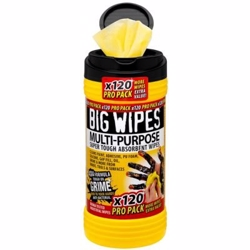 Big wipes multi-purpose 120 Ekstra stærke anti-bakterielle renseservietter - 120 stk. pr. bøtte