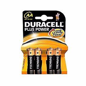 Duracell Plus Power AA batteri - 4 stk. pr. pakke