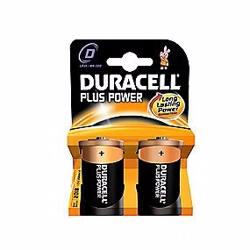 Duracell Plus Power D batteri - 2 stk. pr. pakke