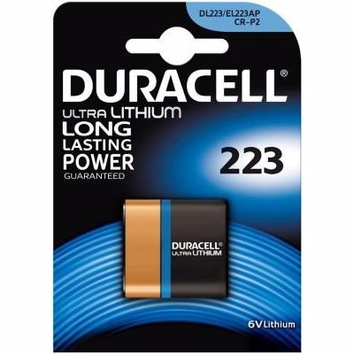 Duracell Ultra Lithium CRp2/223 batteri 6V. 19,5x36x35 mm