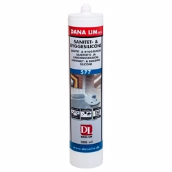 Dana Lim sanitet- & byggesilicone 577 hvid - 300 ml