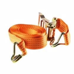Staco Lastestrop 2000 kg - 38mm x 6m Orange med skralde & J-krog - lastekapacitet 1000kg
