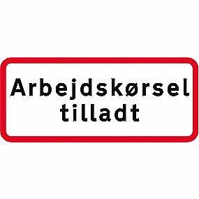 Image of   Undertavle - Arbejdskørsel tilladt UC20,8 25x50cm T3 refleks, DS/EN12899-1