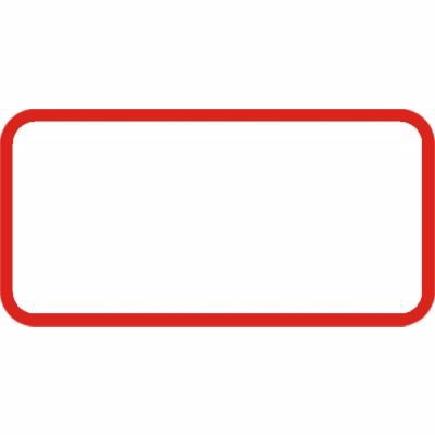Image of   Undertavle uden tekst UA-X 25x50cm blank T3 refleks,DS/EN12899-1