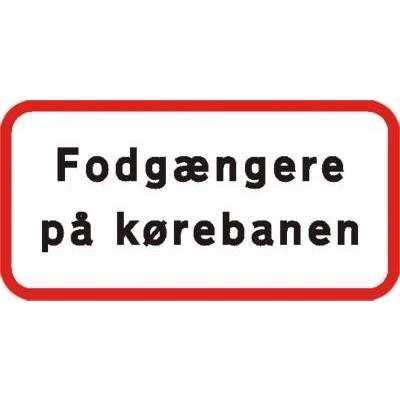 Image of   Undertavle - Fodgængere på kørebanen UA-X 25x50cm T3 refleks, DS/EN12899-1