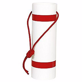 Image of   Langtgods afmærkning rød/hvid m/refleks og snor