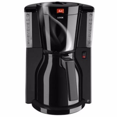 Image of   Melitta kaffemaskine sort Look IV Therm med termokande. brygger ca. 8 kopper