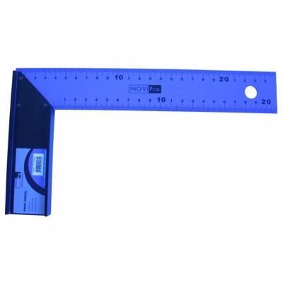 Image of   NOVIPro ansatsvinkel 250mm Prof blå pulverlakeret 45 og 90gr ud og indv måleskala