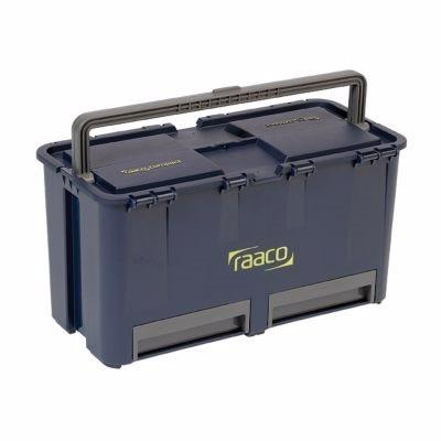 Raaco Compact 27 Værktøjskasse med 2 skuffer, fremstillet i robust plast