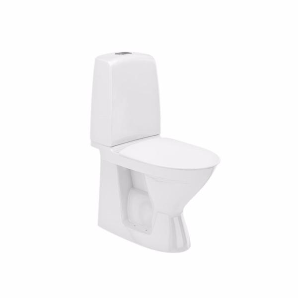 Image of   Ifö Spira toilet 6260 limning hvid med lukket S-lås til limning