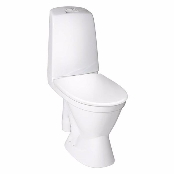 Image of   Gustavsberg Nautic Toilet 1591 Ceramicplus. Åben S-lås og stor fod. Hygienic Flush
