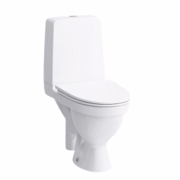 Image of   Laufen Kompas toilet, med åben S-lås. Åben skyllerende
