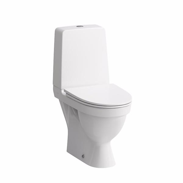 Image of   Laufen Kompas toilet med P-lås. Åben skyllerende