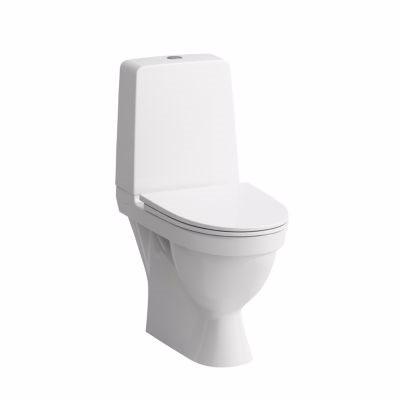 Image of   Laufen Kompas toilet 4,5/3ltr. skjult P-lås åben skyllerende samt LCC. Hvid