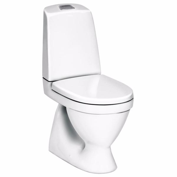 Image of   Gustavsberg Nautic 1500 HF toilet. Med åben skyllerand. Skjult S-lås og Hygienic Flush