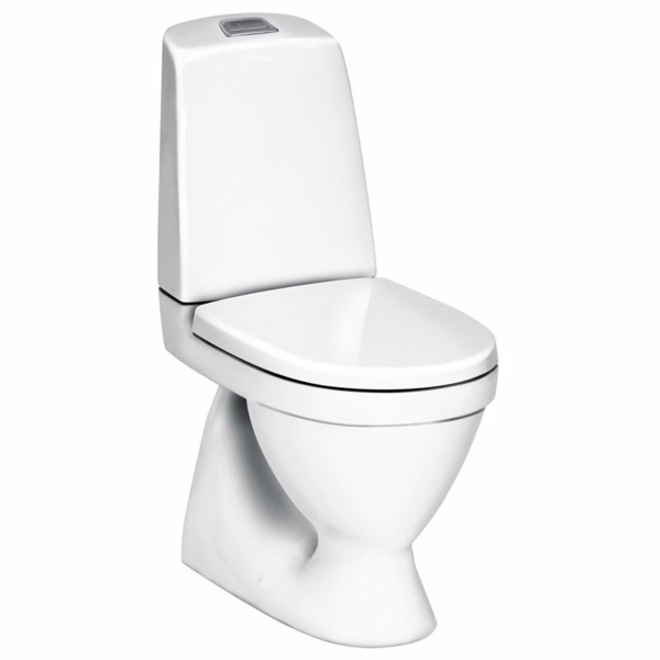 Image of   Gustavsberg Nautic 1500 Toilet med åben skyllerand. Hygienic Flush. C+. Skjult S-lås GB1150R