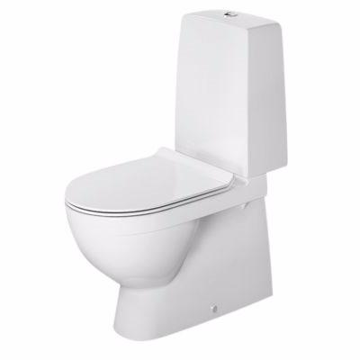 Image of   Duravit DuraStyle Nordisk gulvstående toilet med multiquick & WonderGliss