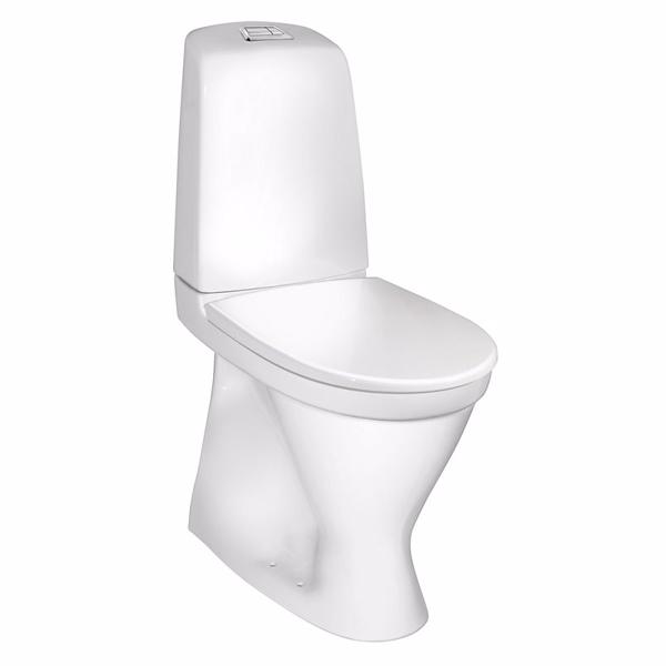 Image of   Gustavsberg Nautic Toilet 1546. Høj model med Ceramicplus. Hygienic Flush