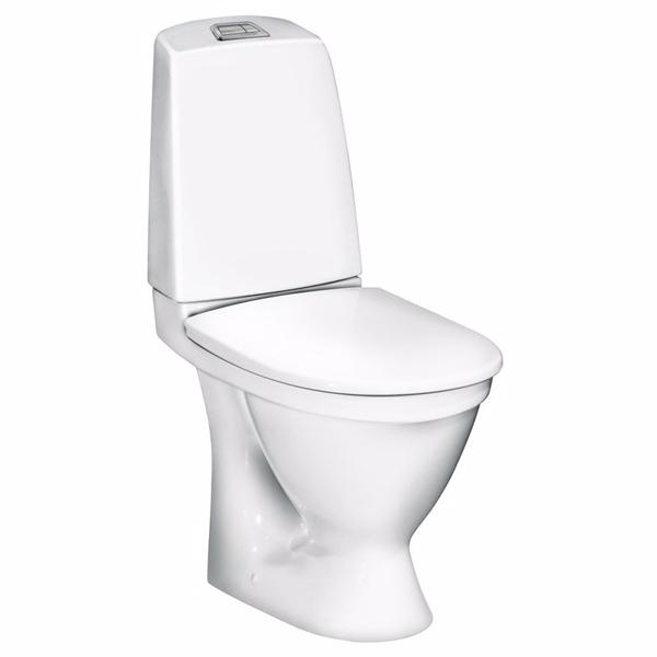 Image of   Gustavsberg Nautic Toilet 1510 Ceramicplus. Skjult P-lås. Hygienic Flush