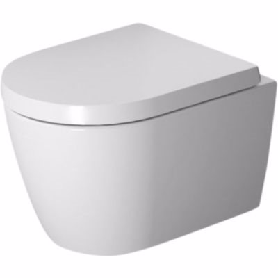 Image of   Duravit ME by Starck vægtoilet compact 37x48cm åben skylle-rand, hvid mat satin WonderGliss