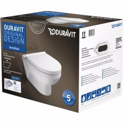 Image of   Duravit DuraStyle vægtoilet box med åben skylle-rand og SoftClose sæde