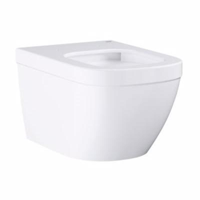 Image of   Grohe Euro keramik hængeskål. Med åben skyllerende. Hvid
