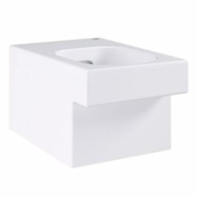 Image of   Grohe Cube Ceramic hængeskål til indbyggede cisterner, P-vandlås, Kantløs