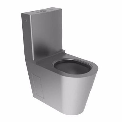 Image of   CMA Gulvmonteret toilet med cisterne. Rustfrit stål