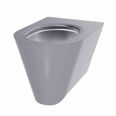 Image of   CMA Væghængt toilet rustfrit stål poleret satin finish. Mål: 535 x 360 mm / H: 350 mm