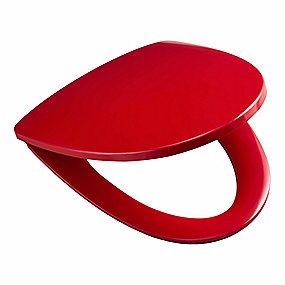 Image of   Ifö Sign toiletsæde med låg, quick release og faste beslag. Rød