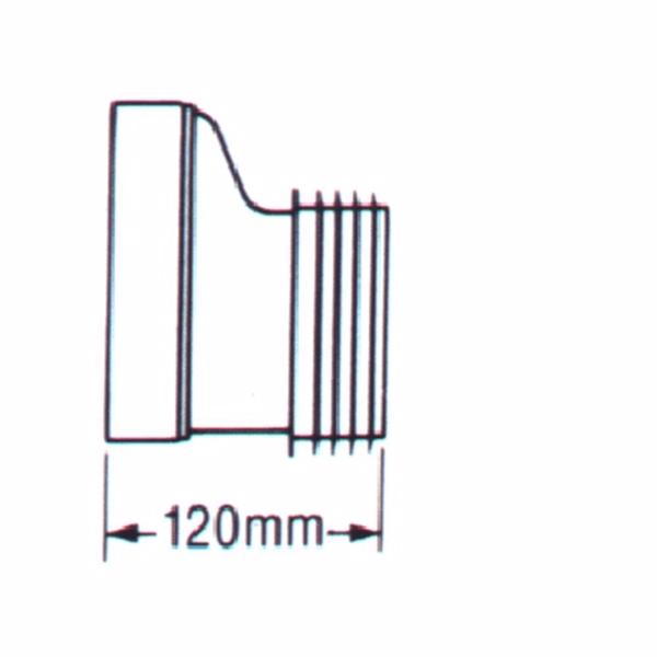 Image of   Combi Kloset-tilslutning Udv.97-100 mm Excentrisk