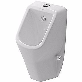Image of   Duravit D-Code urinal med dyse tilslutning fra oven. Med flue. Åben skyllerand. Hvid