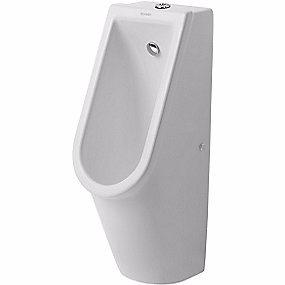 Image of   Duravit Starck 3 urinal vandtilslutning fra oven. Åben skyllerand. Hvid