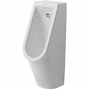 Image of   Duravit Starck 3 urinal vandtilslutning bagfra. Wondergliss Hvid. Med flue