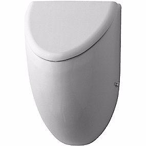 Image of   Duravit Fizz urinal. Vandtilslutning bagfra. Model til låg. Hvid