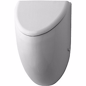 Image of   Duravit Fizz Urinal. Model til låg. Med flue. Med Wondergliss Hvid