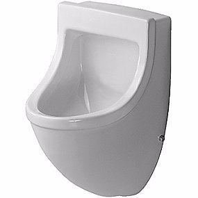 Image of   Duravit Starck 3 Urinal. Vandtilslutning bagfra. Med flue. Wondergliss Hvid