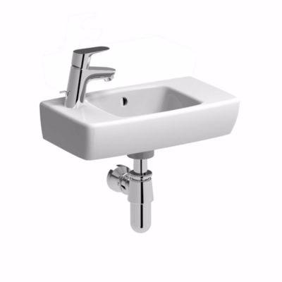 Ifö B1 håndvask 45 cm med hanehul til venstre