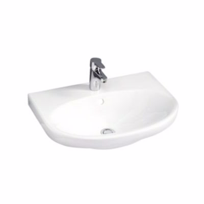Image of   GB Nautic håndvask u/overl 600x461mm t/bolt/bæring m/hh midt hvid