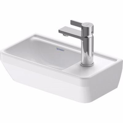 Duravit D-Neo håndvask 400mm 400x140x220mm hvid højgl, uden overløb, hanehul til højre