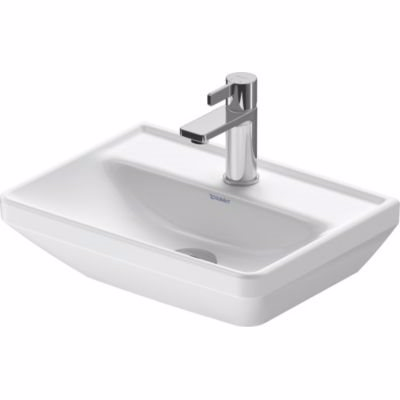 Duravit D-Neo håndvask 450mm 450x130x335mm hvid højgl, uden overløb, 1 hanehul