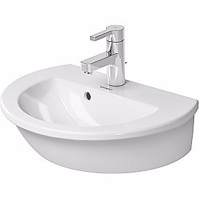Image of   Duravit Darling New vask 600x520 mm med overløb, hanehul og Wondergliss