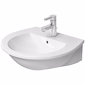 Image of   Duravit Darling New vask 550x480 mm med overløb, hanehul og Wondergliss